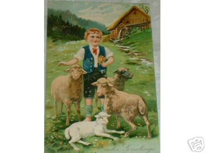 1907 Boy with Sheep