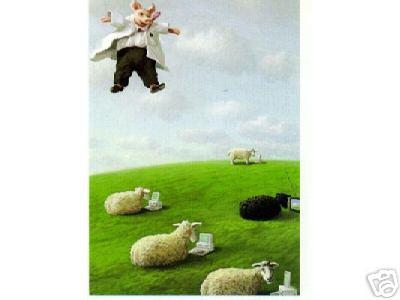1 Hovering Pig And5 Computer Sheep