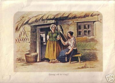 2 Women Handspinning
