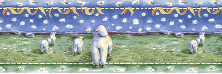 Blue Fairy Sheep Border