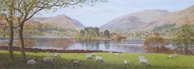 Keith Melling Dale End Yorkshire Dales Sheep Lake Print