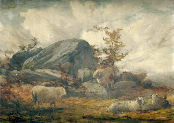 Old Sheep Painting