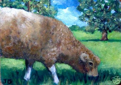 Original Oil Grazing Sheep