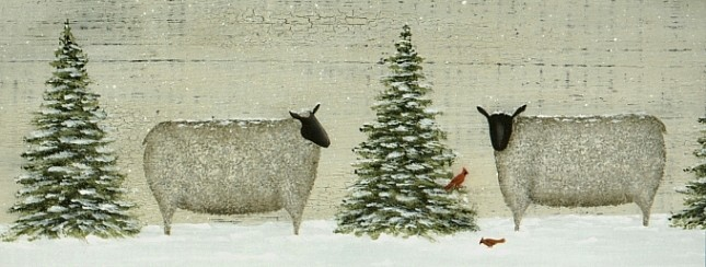 Primitive Sheep in Winter