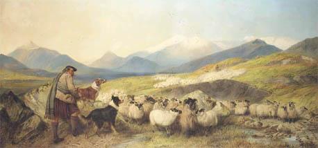 Richard Ansdell Sheep Gathering in Glen Spean