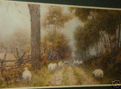 Sheep Along a Country Lane