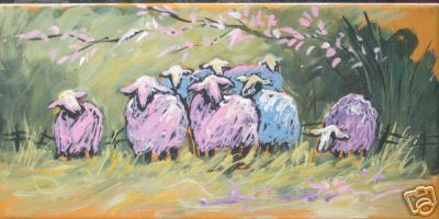 Sheep in Pastel Colors