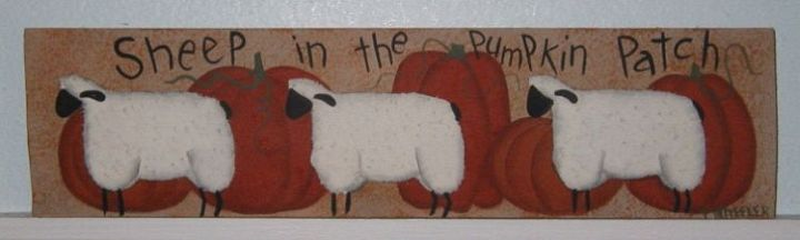 Sheep in the Pumpkin Patch Sign