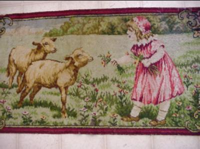 Victorian Wool Rug Sheep