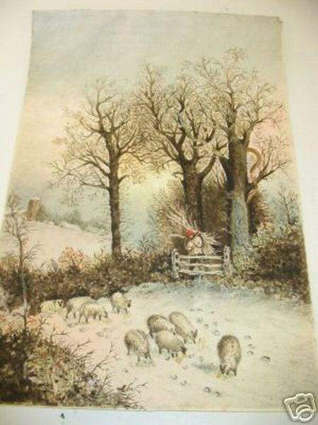 sheep images watercolor sheep snow