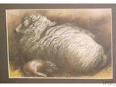 Welsh Ewe with Lamb B
